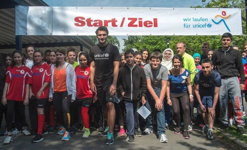 Mats Hummels Start Unicef Spendenlauf